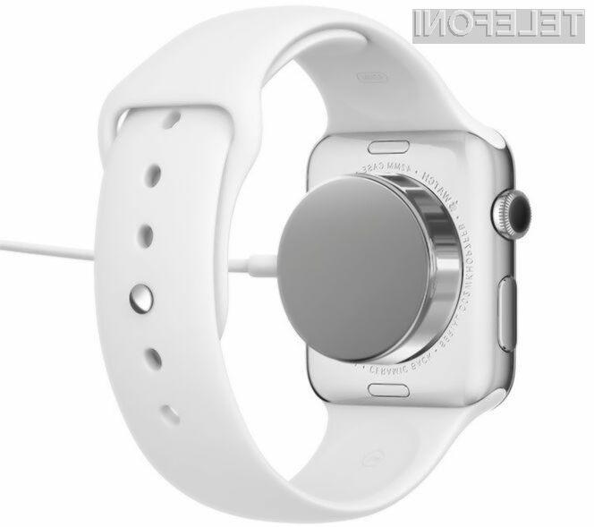 Pametno ročno uro Apple Watch bo potrebno neprestano polniti!