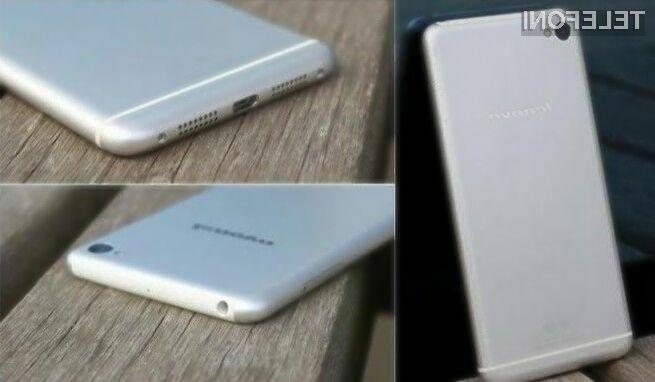 Pametni mobilni telefon Lenovo Sisley naj bi bil na las podoben iPhonu 6.