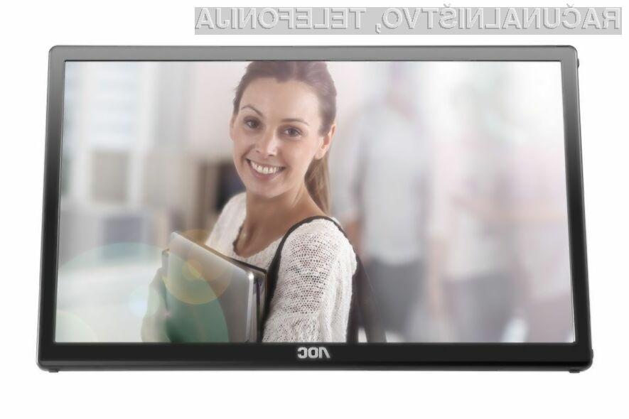 Zaslon AOC myConnect E1759FWU je kot nalašč za večzaslonsko delo na terenu!