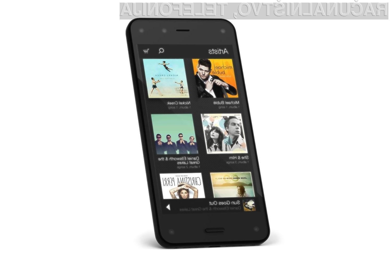Pametni mobilni telefon Amazon Fire Phone so uporabniki sprejeli zelo mlačno!