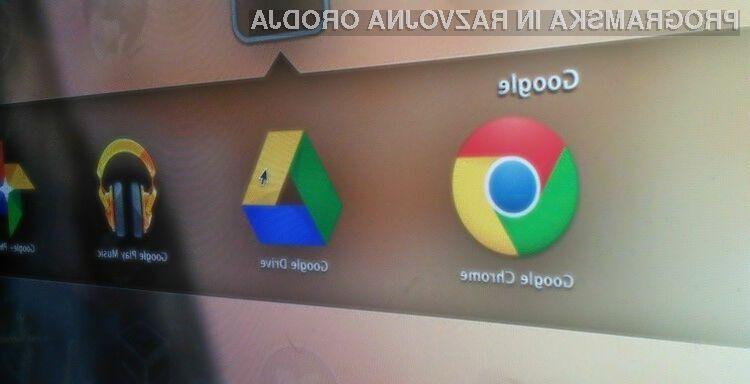 Oblačna storitev Google Drive for Education uporabnikom ponuja neomejeno količino oblačnega prostora za shranjevanje podatkov.