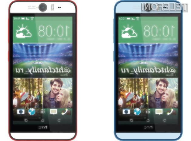 Pametni mobilni telefon HTC Desire Eye bo pisan na kožo ljubiteljem »selfiejev«!