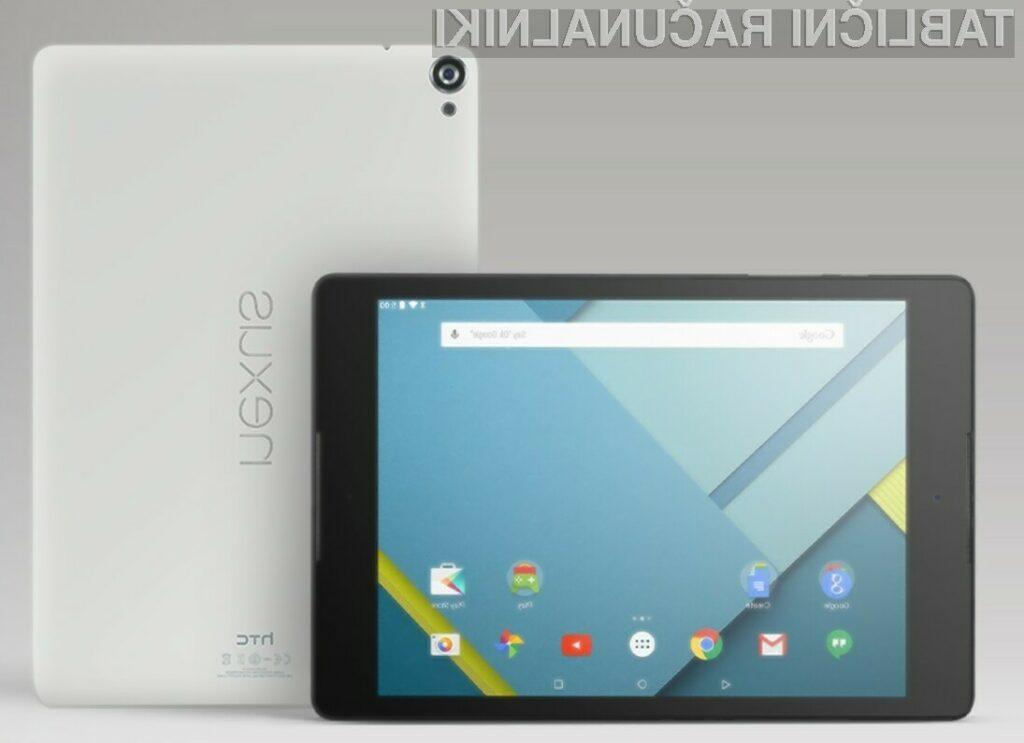 HTC in Google predstavita prvo Android Lollipop Nexus tablico