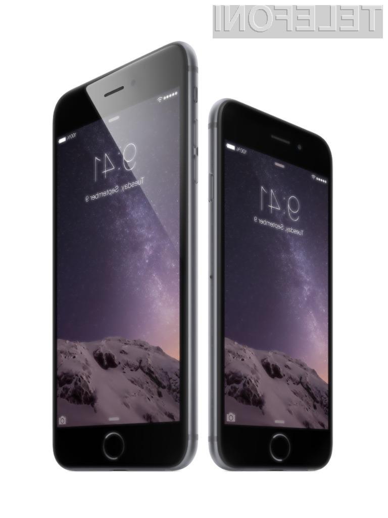 Ljubiteljem ogrizenega jabolka je bliže novi pametni mobilni telefon iPhone 6 Plus z večjim zaslonom.