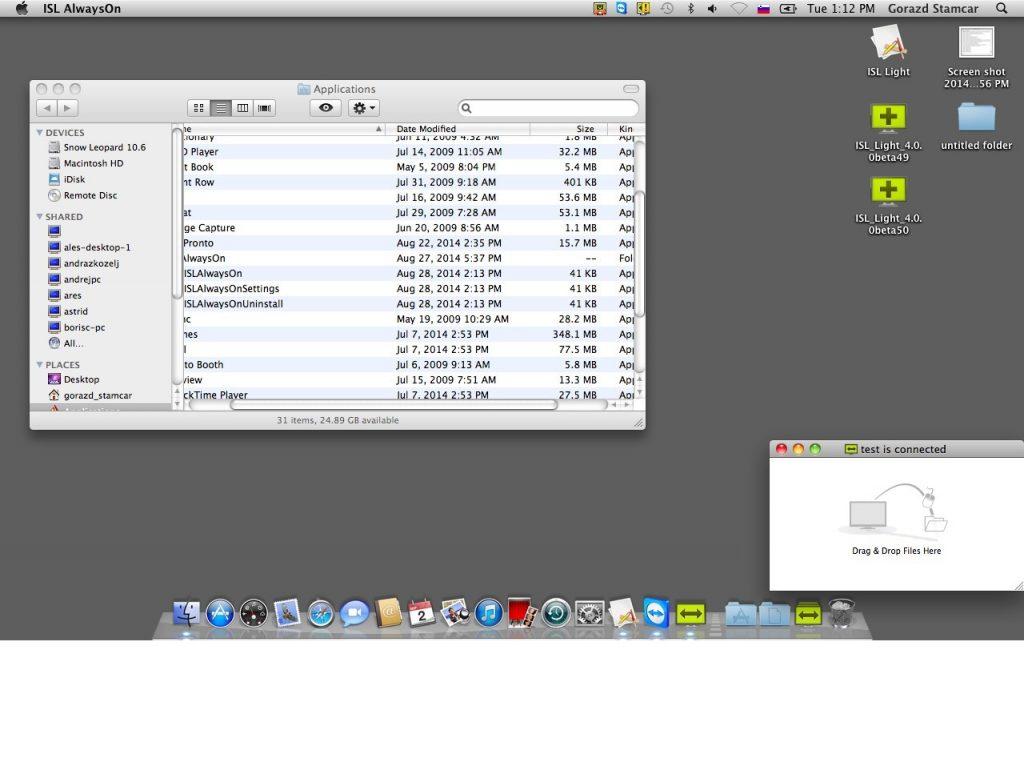 Bolj »odprt« pogled na oddaljeni zaslon Maca
