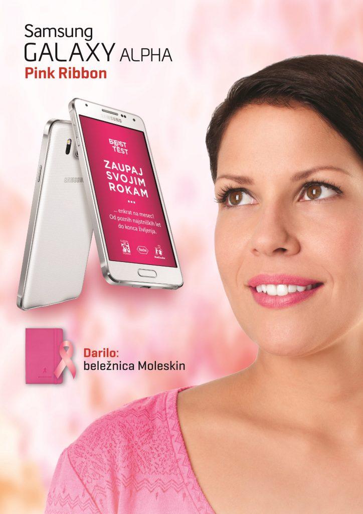 Telekom Slovenije in Samsung tudi letos s posebno različico mobitela »Pink Ribbon« za združenje Europa Donna