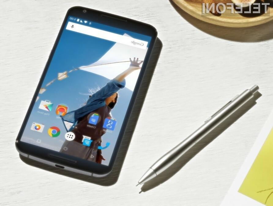 Mobilnik Google Nexus 6 je kljub nekoliko visoki maloprodajni ceni zlahka prepričal uporabnike storitev mobilne telefonije.