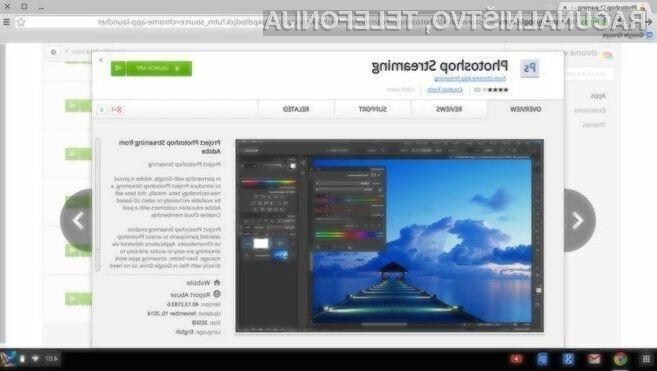 Uporabniki prenosnikov Google Chromebook imajo možnost uporabe profesionalnega programa za obdelavo slik in fotografij Photoshop.