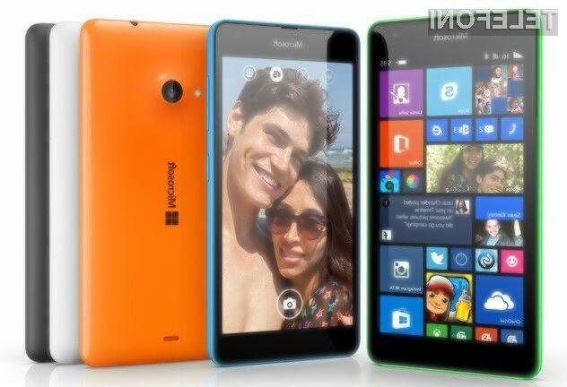 Pametni mobilni telefon Microsoft Lumia 535 bo brez težav opravil tudi z nekoliko težjimi opravili!