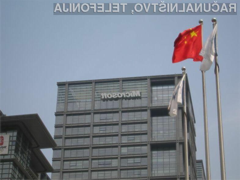 Kitajske oblasti naj bi podjetje Microsoft kaznovale zaradi poskusa utaje davkov.