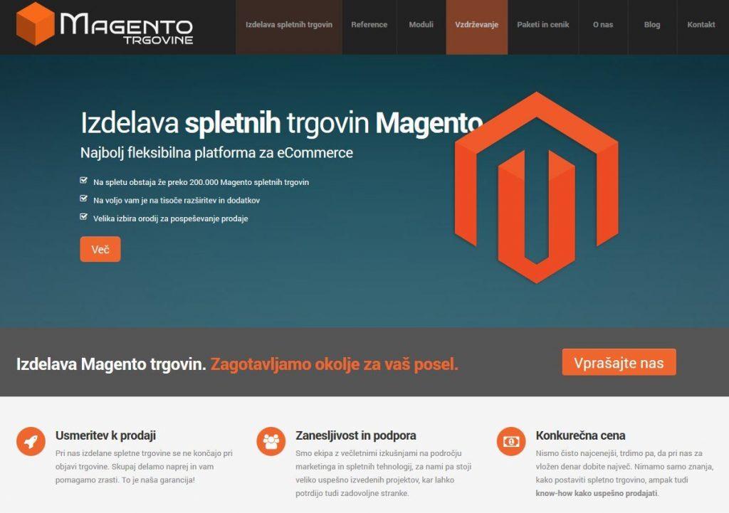 Izdelava spletne trgovine na platformi Magento