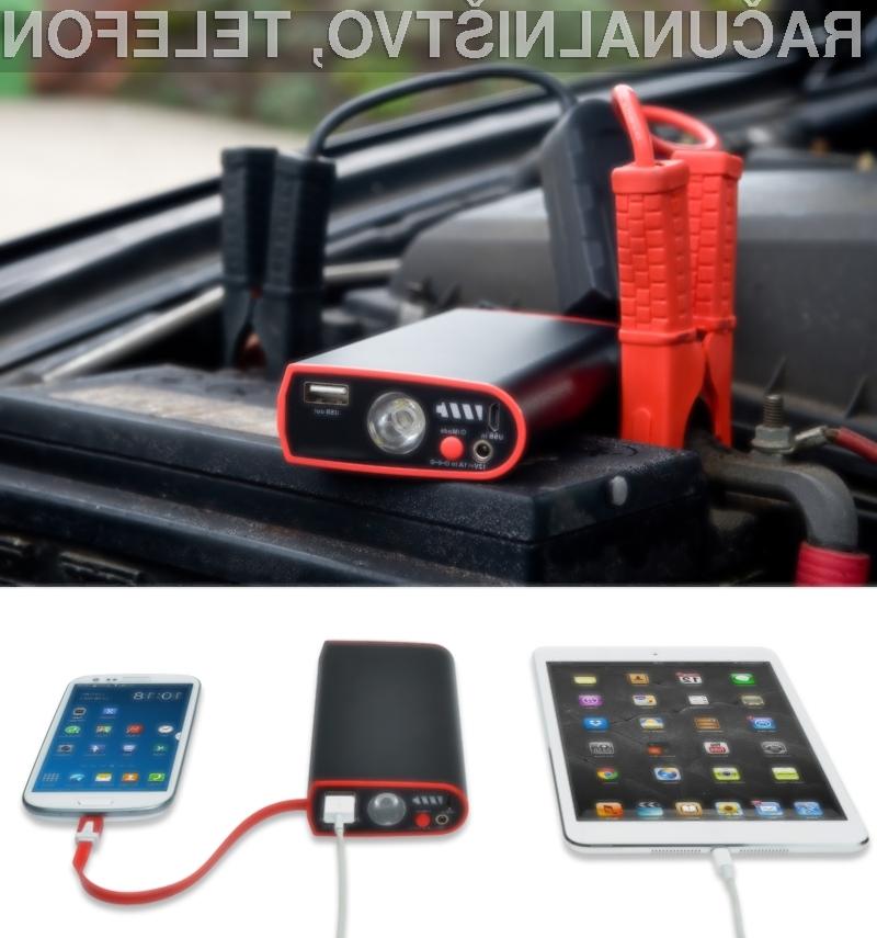 Napolnite avto akumulator in mobilnik – z eno napravo!
