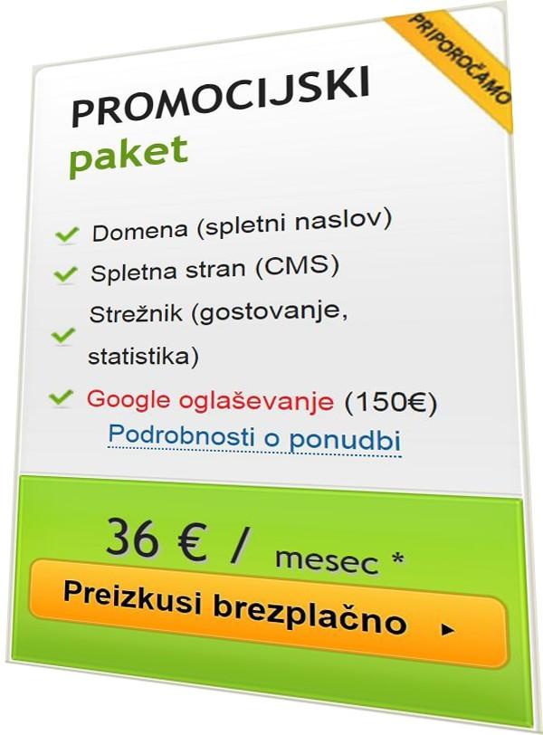 promocijski paket Web5.si