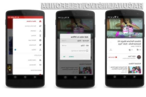 Shranjene vsebine iz YouTubea lahko uporabniki na pametnih mobilnih telefonih in tabličnih računalnikih hranijo do 48 ur.