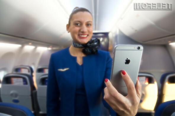 Potniki letalske družbe United Airlines bo kmalu lahko brezplačno uporabljali pametni mobilni telefon iPhone 6 Plus!