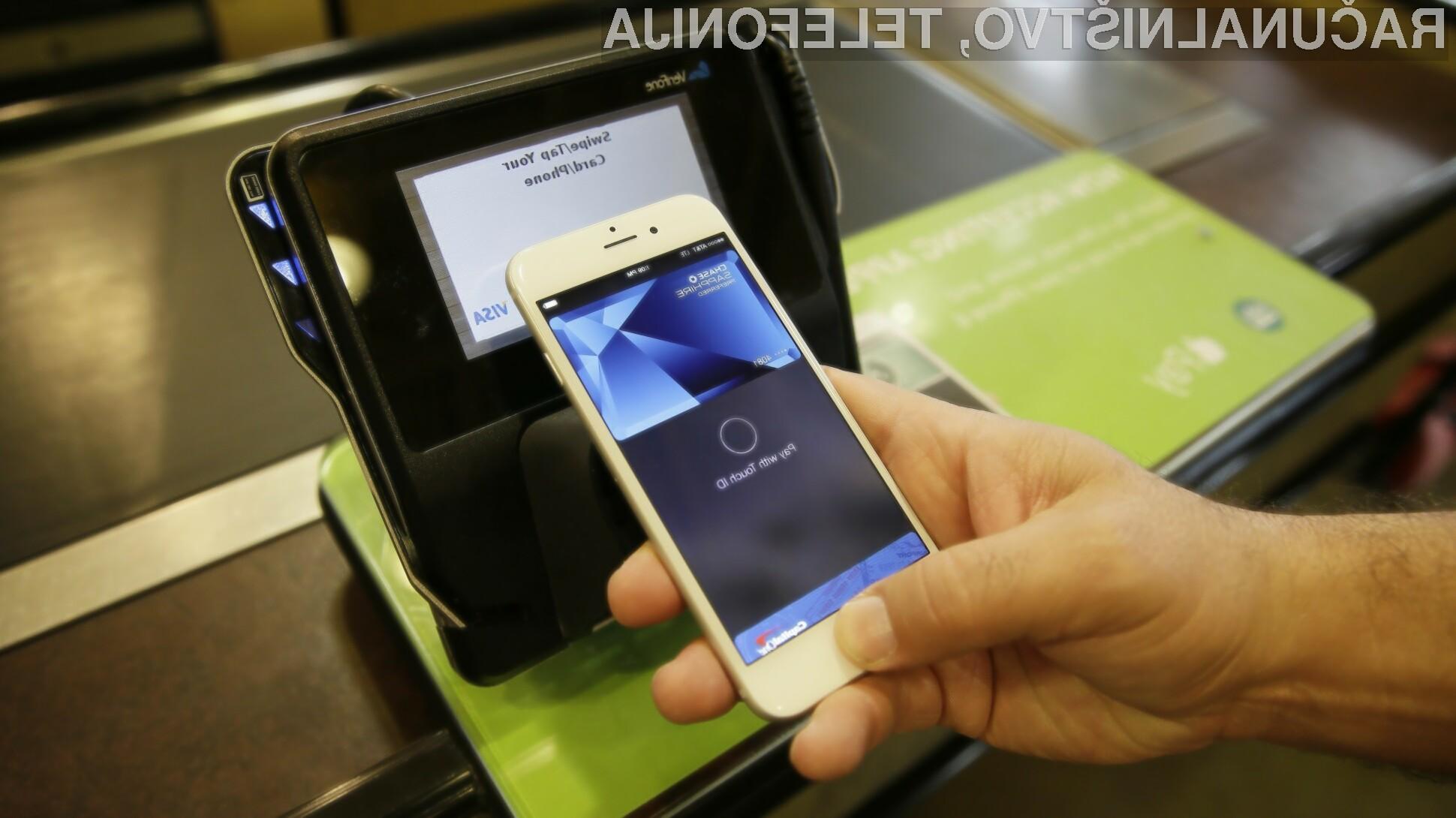 Bo Applovo mobilno plačevanje Apple Pay prepričalo tudi evropske uporabnike pametnih mobilnih telefonov iPhone 6 in iPhone 6 Plus.