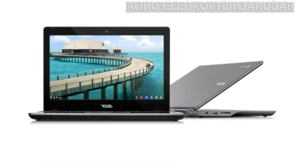 Prenovljeni prenosnik Acer C720 Chromebook je zlahka kos tudi nekoliko zahtevnejšim opravilom.