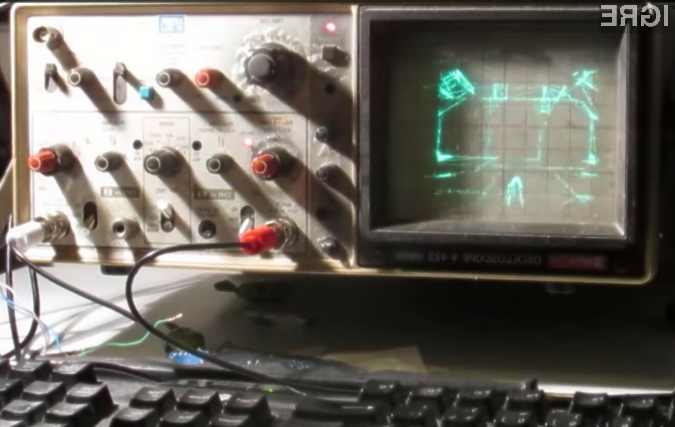Quake na osciloskopu kljub nekoliko slabši vidljivosti ponuja relativno zadovoljivo igralno izkušnjo.