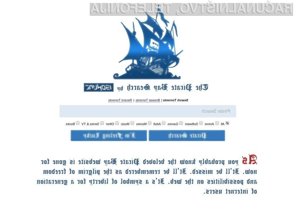 Nova spletna stran Piratskega zaliva je bila postavljena s strani upravljavcev piratskega portala IsoHunt.