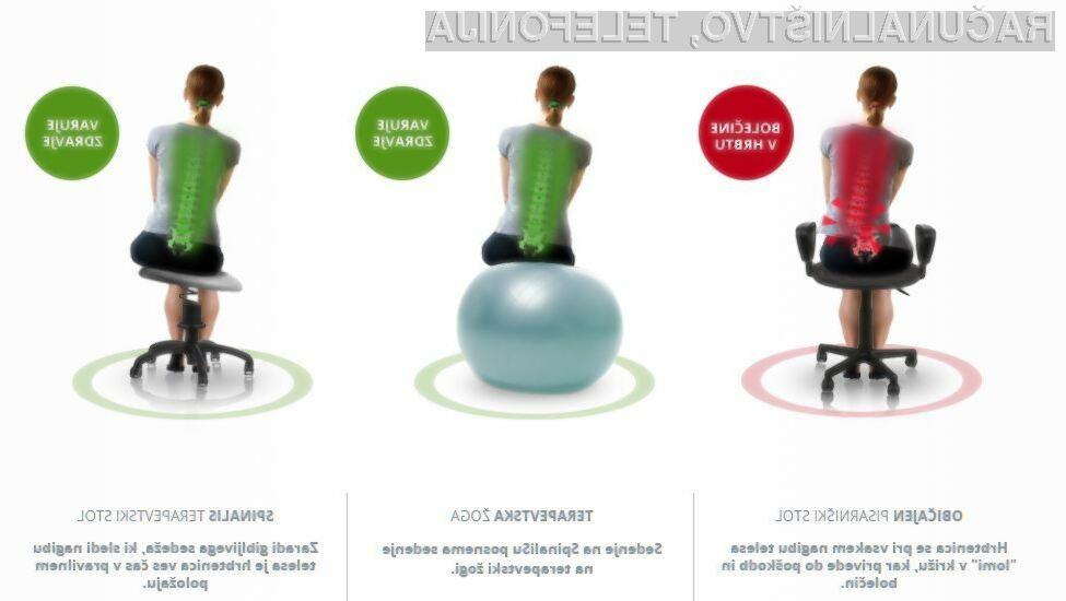 Aktivno sedenje: Pisarniški ergonomski stol, ki bo izničil bolečine v hrbtu