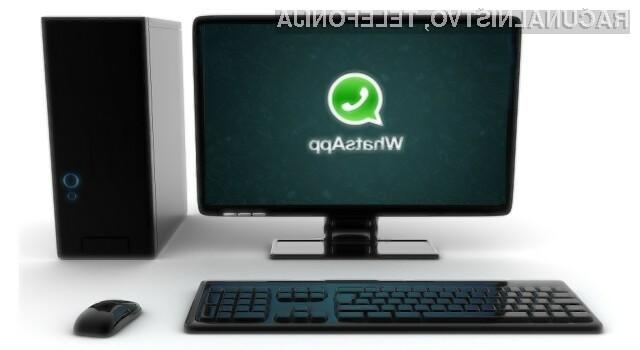 Namizna različica mobilne aplikacije WhatsApp naj bi bila nared še pred pričetkom naslednje pomladi!