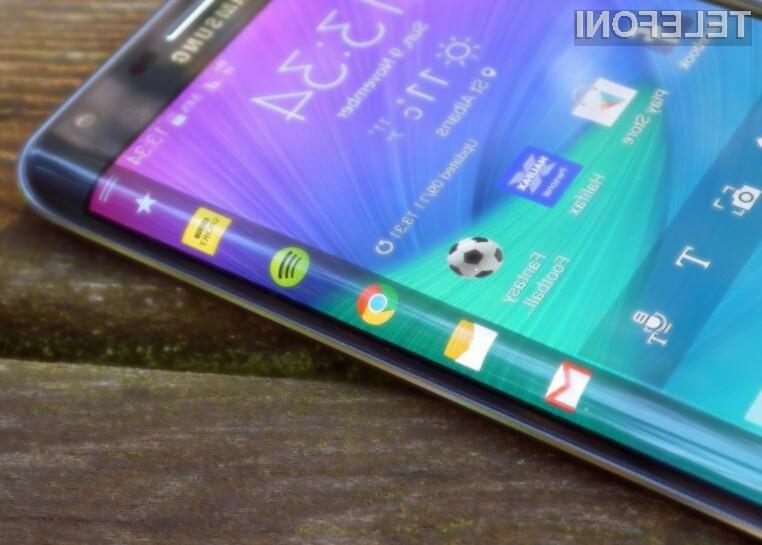 Upognjeni pametni mobilni telefoni Samsung Galaxy S6 Edge bo zagotovo šel v prodajo kot za stavo!