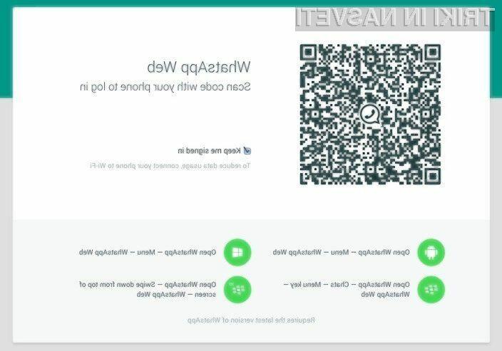 Izjemno priljubljena storitev WhatsApp je pridobila podporo za spletne brskalnike osebnih računalnikov!