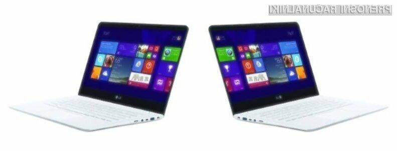 Nova kompaktna prenosnika podjetja LG Electronics sta lažja od enega kilograma!