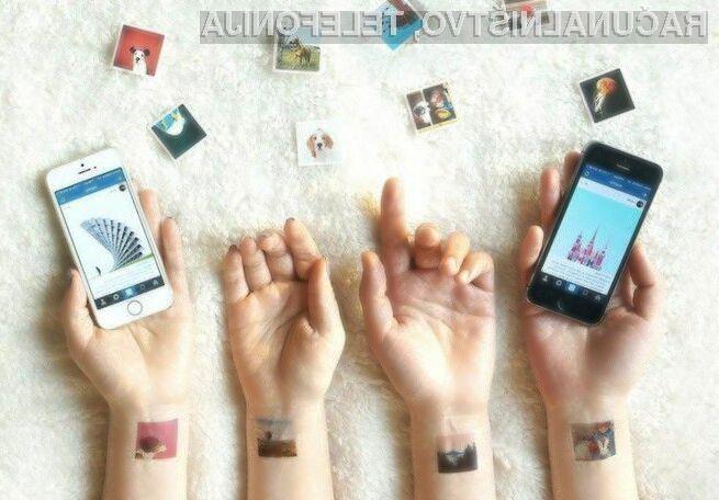 Storitev Pictattoo omogoča tisk fotografij izdelanih s pomočjo Instagrama na prozorno nalepko, ki se nato prilepi kar na kožo.