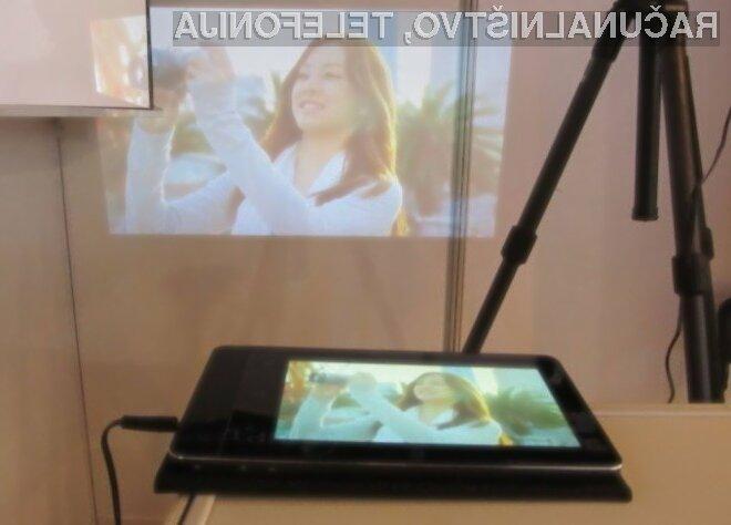 Tablični računalnik Aiptek ProjectorPad P70 bo kot nalašč za priložnostne predstavitve večjemu številu ljudi!