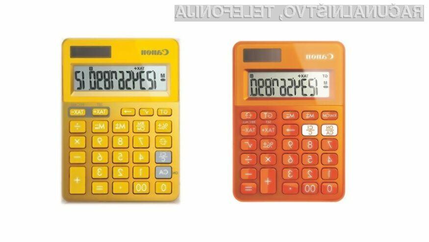 Canon prinaša barve v domove in pisarne z novimi modeli kalkulatorjev