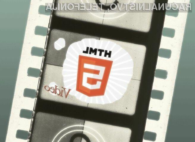 Spletni standard HTML5 je kot nalašč za predvajanje videoposnetkov znotraj spletnega brskalnika.