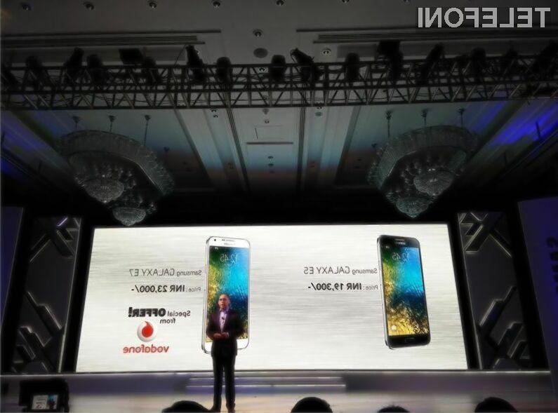 Nova mobilnika Samsung družine Galaxy E naj bi zlahka prepričali tudi nekoliko zahtevnejše uporabnike storitev mobilne telefonije.