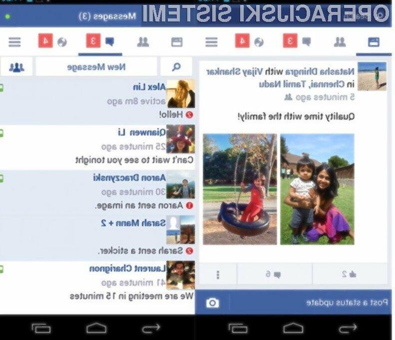 Facebook Lite se odlično obnese na poceni mobilnih napravah Android.