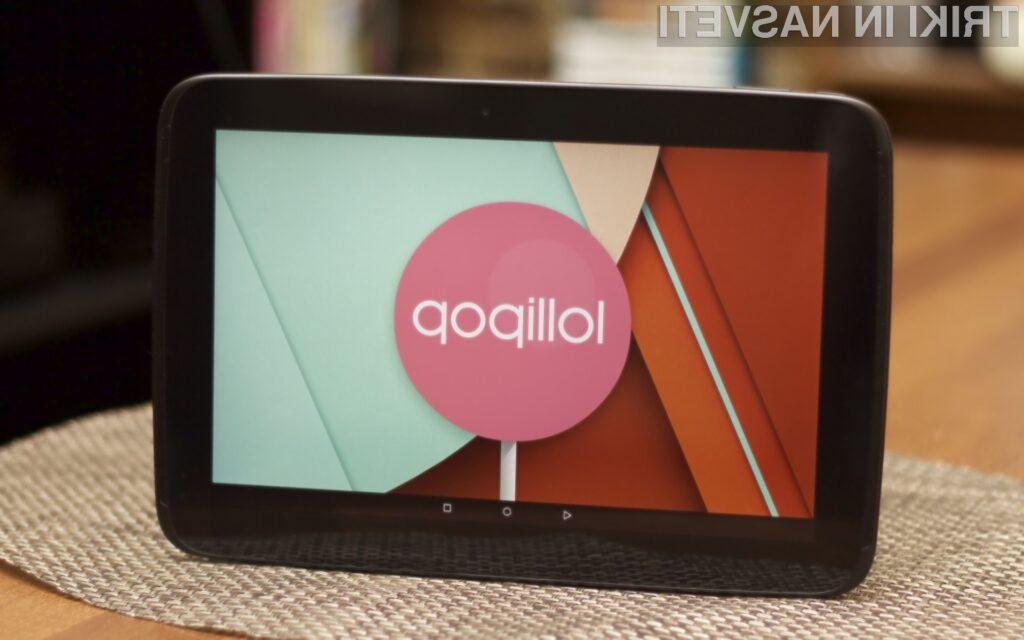 Tablica Google Nexus10 je vendarle bila deležna nadgradnje na Android 5.0.2 Lollipop.