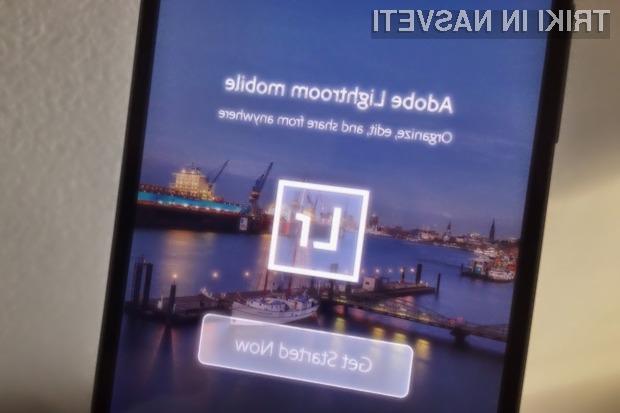 Adobe Lightroom se odlično znajde na pametnih mobilnih telefonih Android.