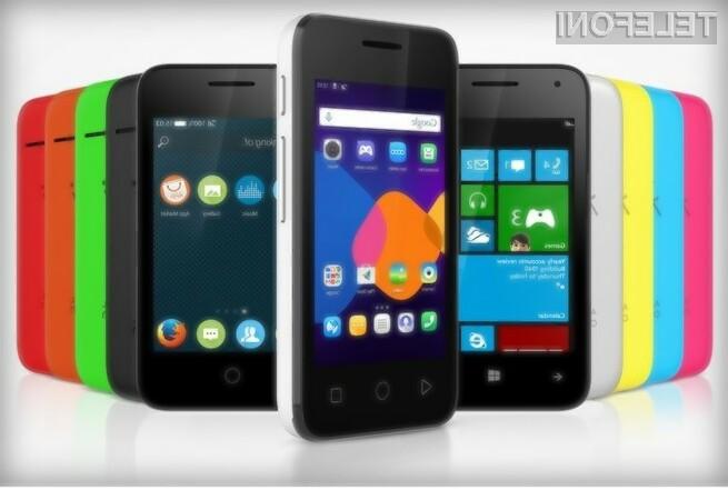 Kupec pametnega mobilnega telefona Alcatel Pixi bo lahko izbiral med kar tremi mobilnimi operacijskimi sistemi!