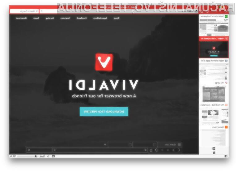 Spletni brskalnik Vivaldi ima vse možnosti za uspeh.