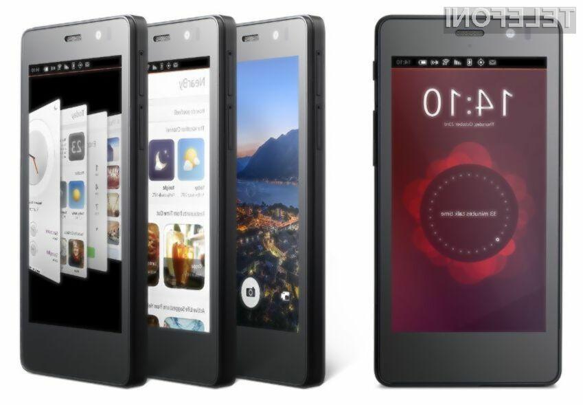 Prvi pametni mobilni telefon z mobilnim operacijskim sistemom Ubuntu bo naprodaj že 9. februarja.