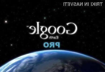 Google Earth Pro odslej brezplačno!