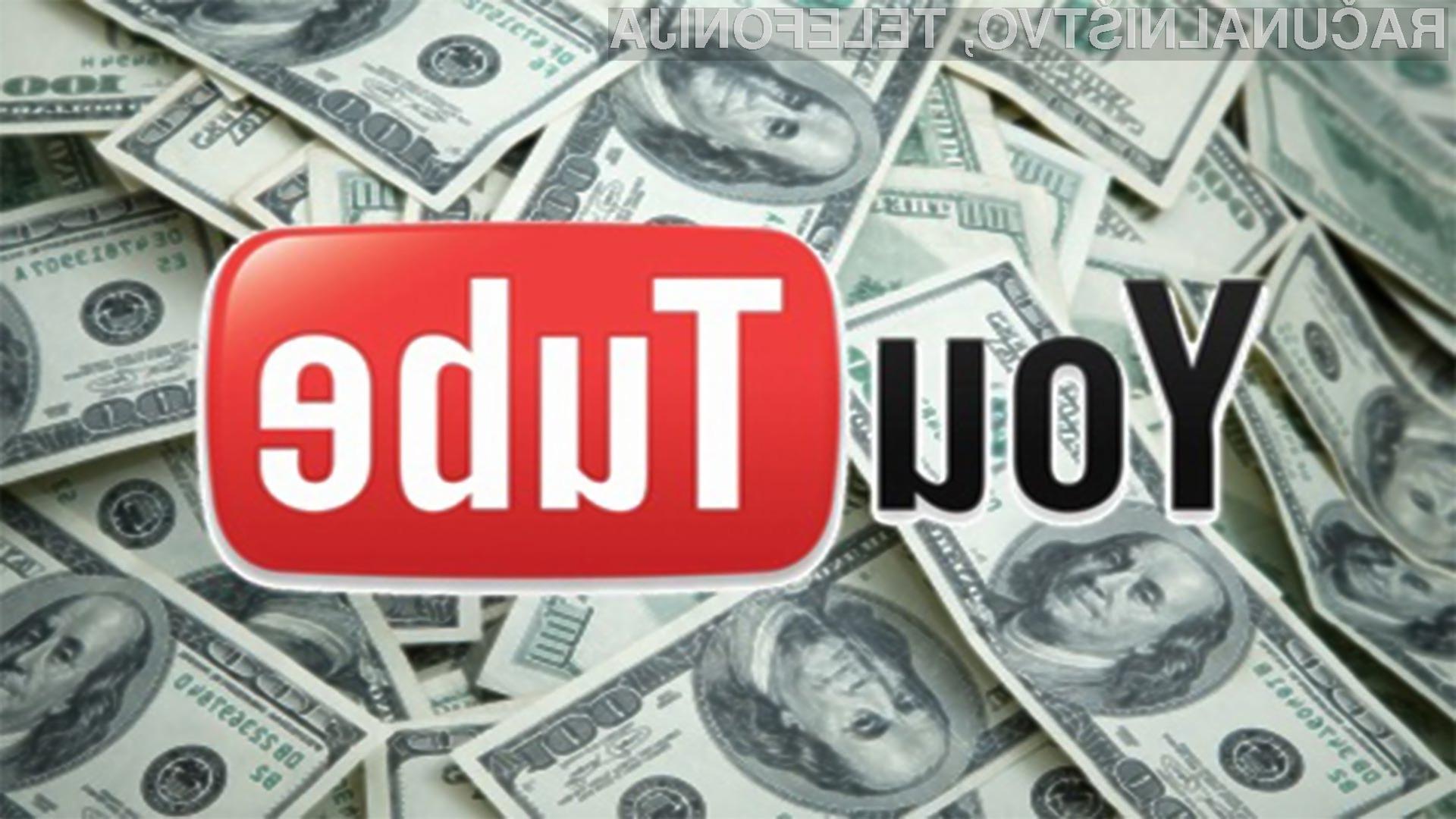 V zameno za plačilo bomo lahko predvajali videoposnetke na spletnem portalu YouTube brez nadležnih reklamnih oglasov.