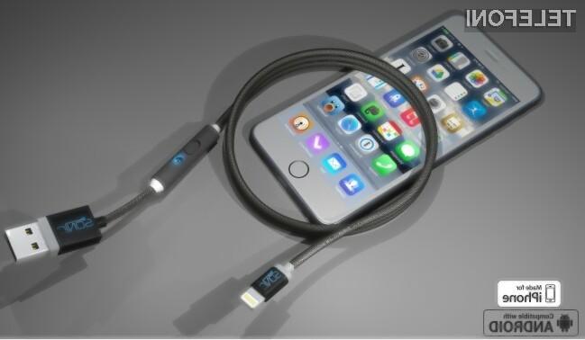 Z uporabo polnilnega kabla SONICable bo polnjenje mobilnika za kaj polovico krajše!