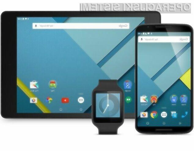 Najnovejši Android 5.0 Lollipop je trenutno nameščen le na okoli 1,6 odstotkov pametnih mobilnih telefonov in tabličnih računalnikov Android.