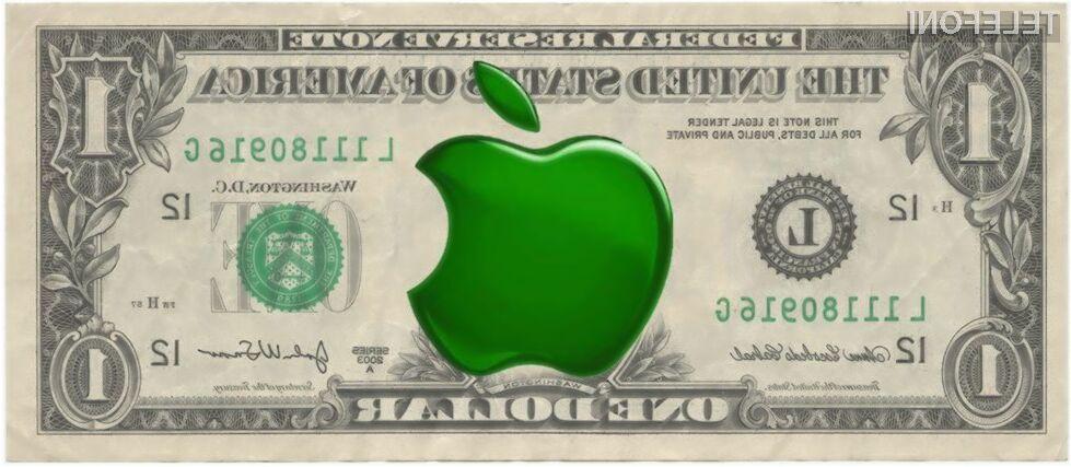 Vrednost podjetja Apple trenutno znaša več kot preračunanih 630 milijard evrov.