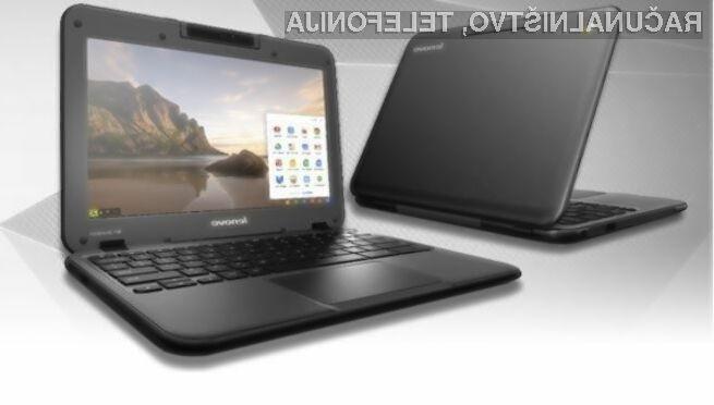 Prenosni računalnik Lenovo N21 Chromebook lahko brez poškodb preživi padce z višine do 70 centimetrov.