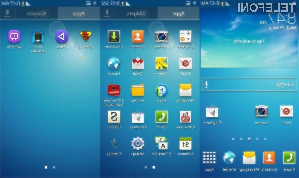 Galaxy S6 bo na voljo z bogato paleto prednameščenih Microsoftovih oblačnih rešitev.