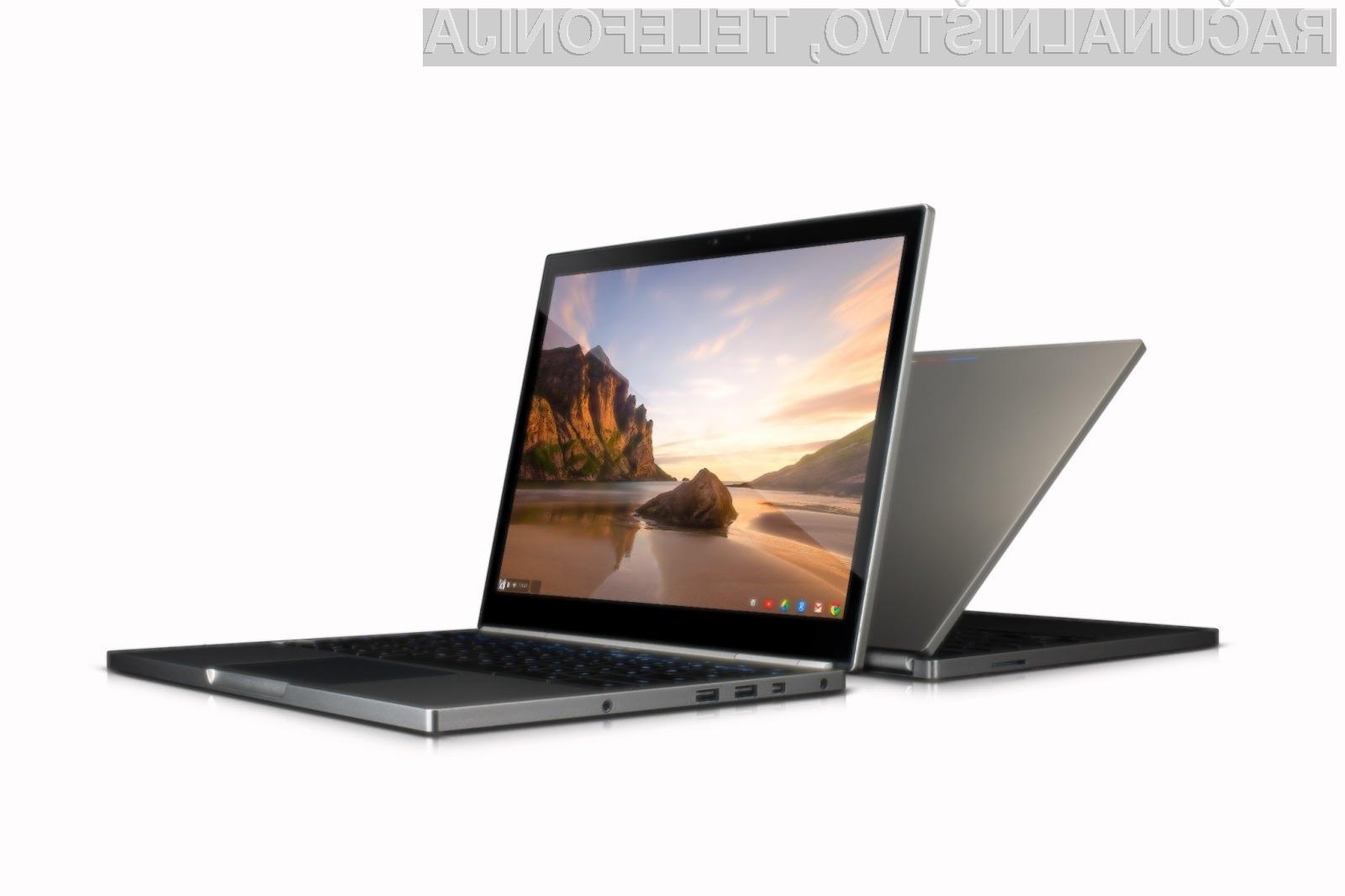 Na dotik občutljiv prenosnik Google Chromebook Pixel 2 bo navduševal v vseh pogledih!