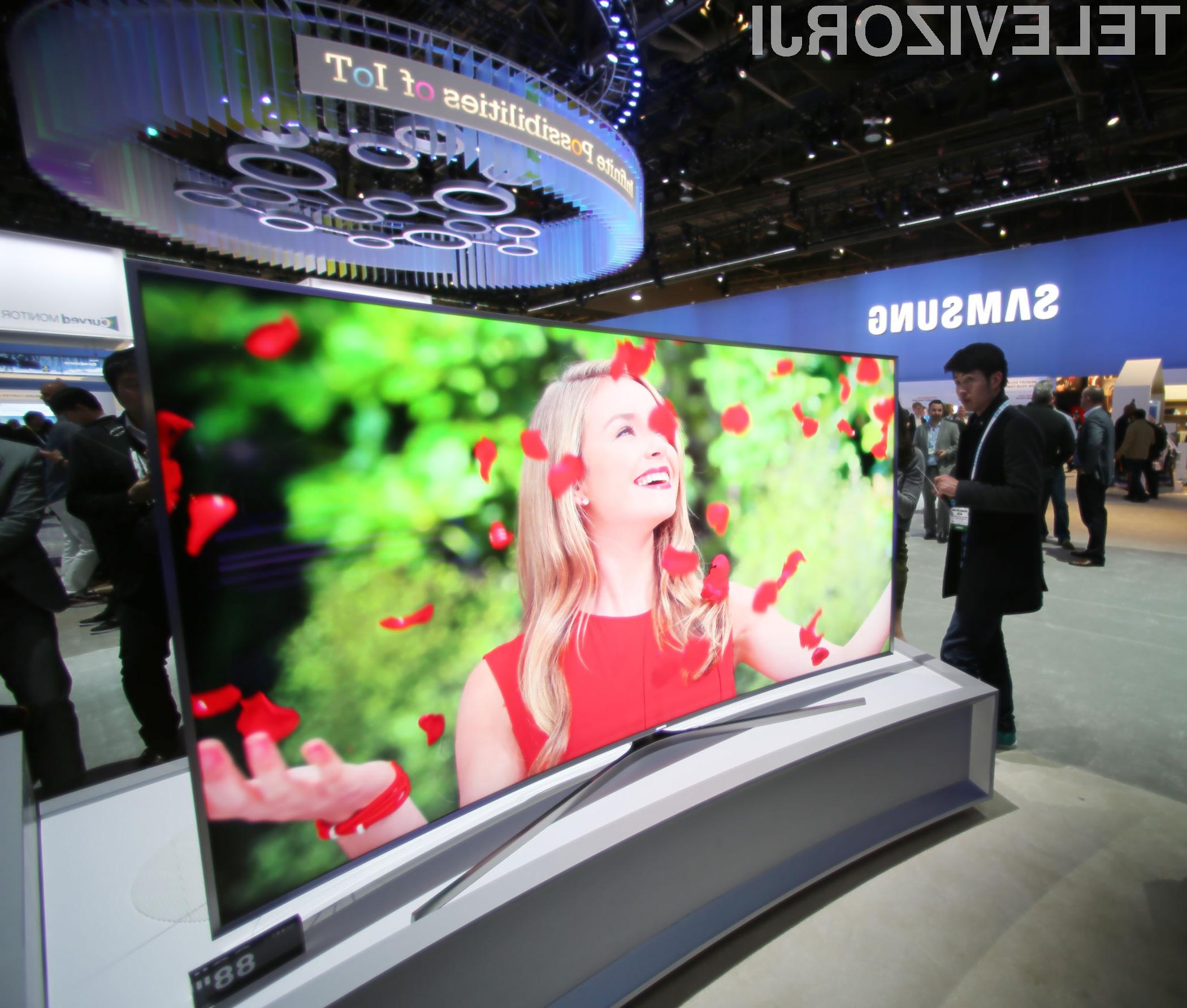Ukrivljen računalniški zaslon Samsung UN105S9B ponuja izjemno uporabniško izkušnjo.