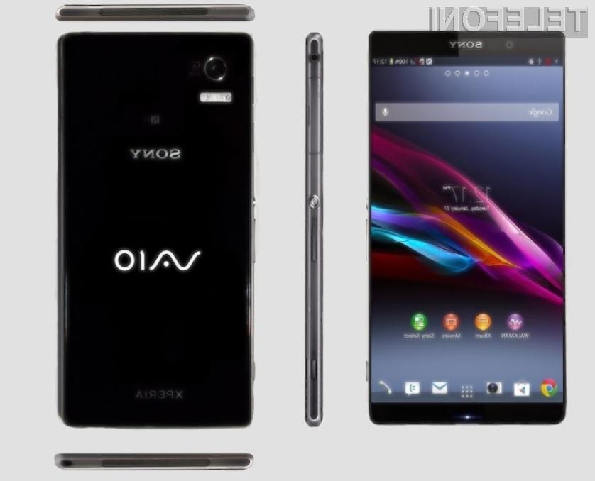 Prvi pametni mobilni telefon Sony družine VAIO naj bi bil naprodaj že 12. marca.