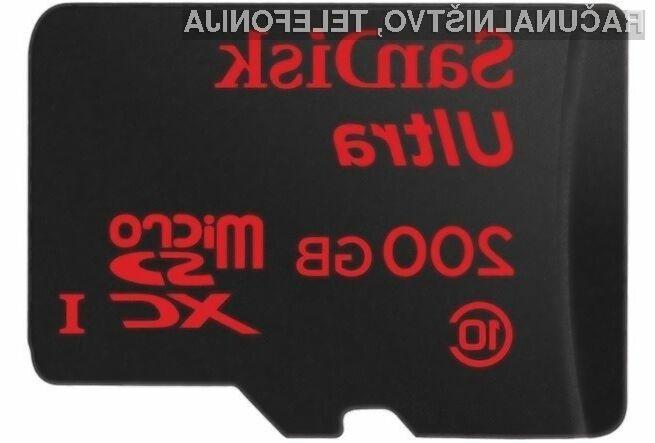 200 gigabajtov v kartici microSD